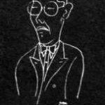 L'Architetto Le Corbusier in caricatura