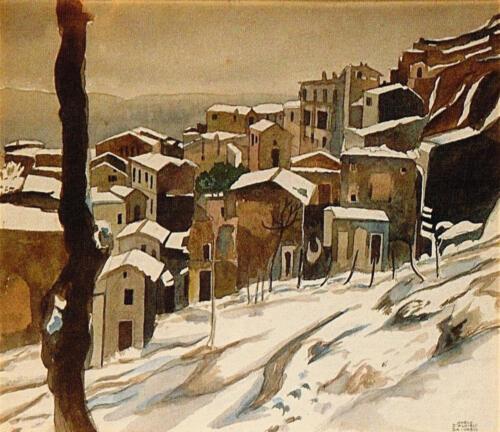 Paesaggio Invernale Abruzzese